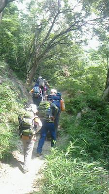 上野道の登り