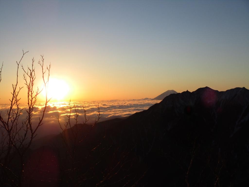 富士山、鳳凰山