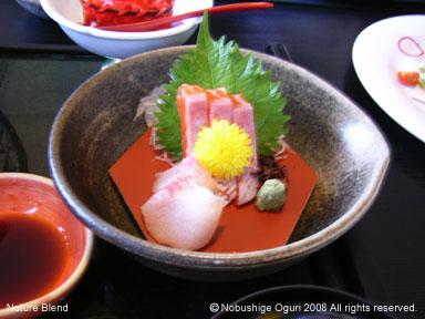 信州サーモンと岩魚のお刺身