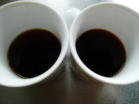 コーヒー仕上がり