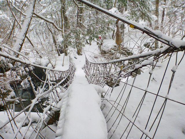 フスベヨリ谷吊り橋