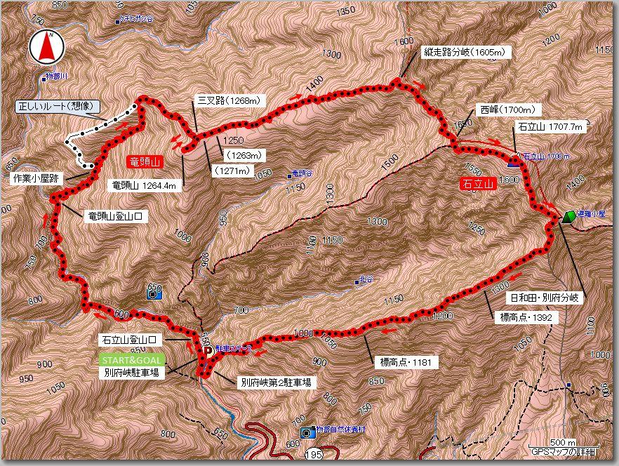 竜頭山マップ