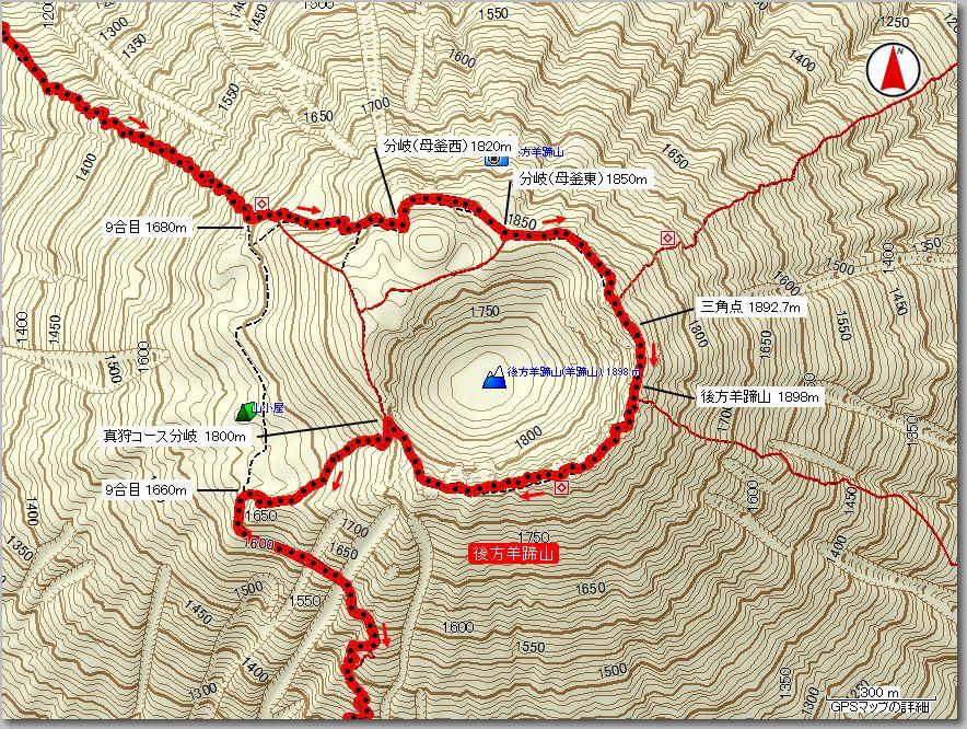 羊蹄山マップ300