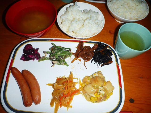 蝶ヶ岳ヒュッテ 朝食