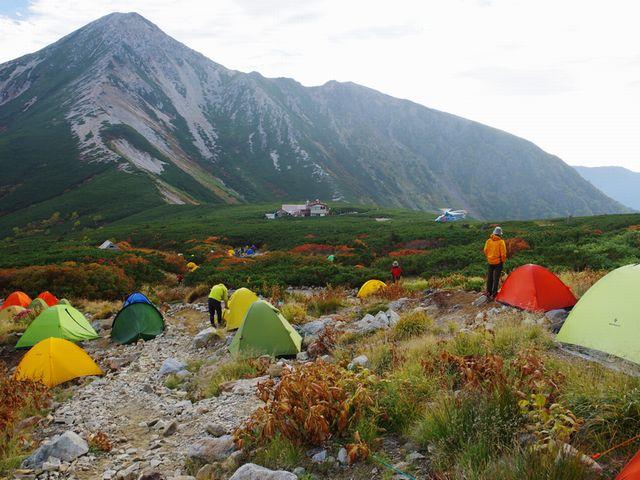 三俣蓮華岳キャンプ場