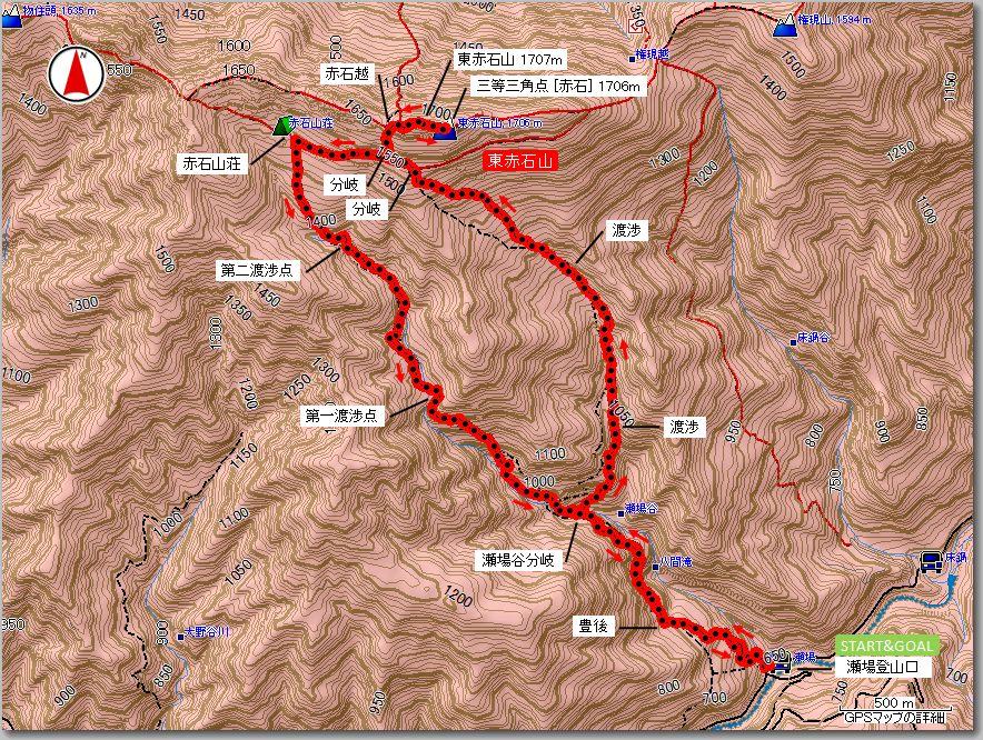 東赤石山マップ