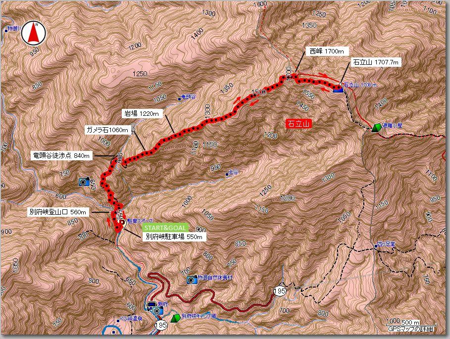 石立山マップ