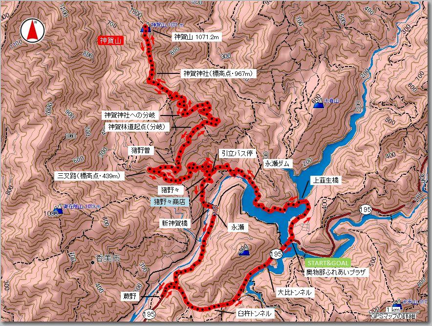 神賀山マップ