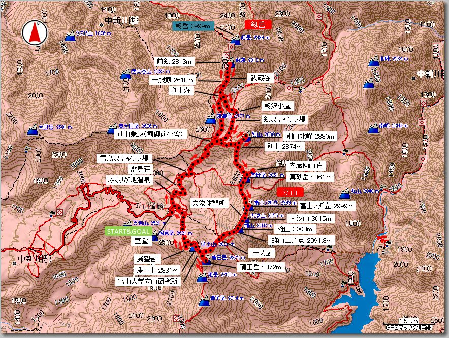 立山マップ