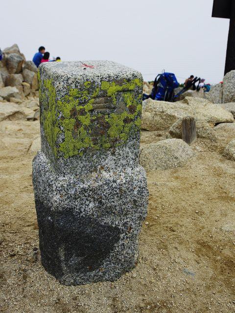 木曽駒ヶ岳三角点