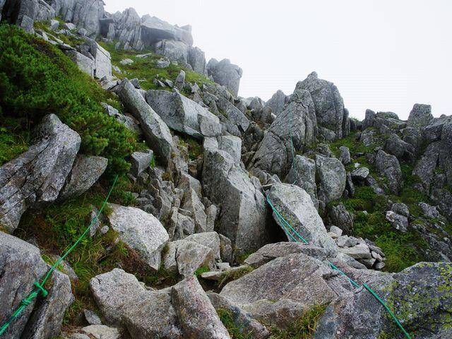 中岳トラバース