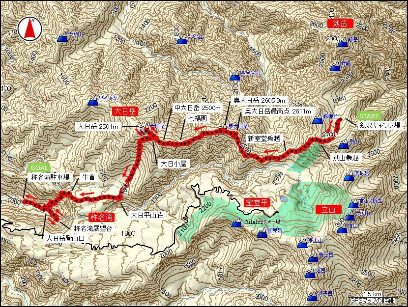 大日岳マップ
