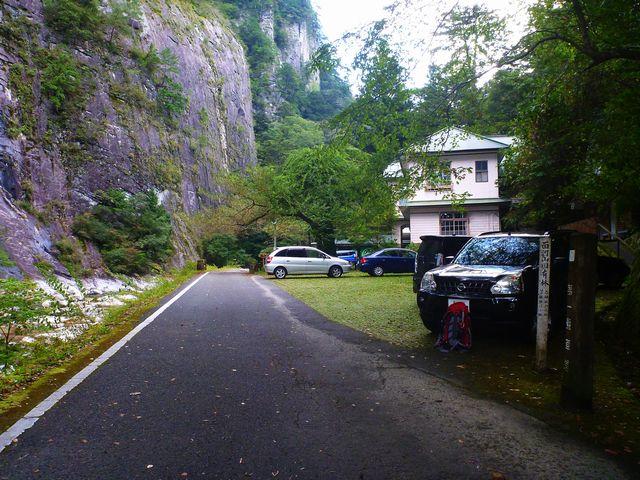 面河渓駐車場