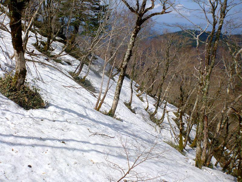 矢筈山�峰トラバース