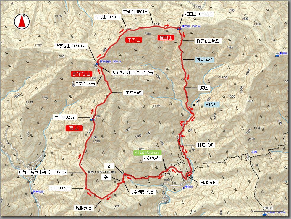 折宇谷山マップ