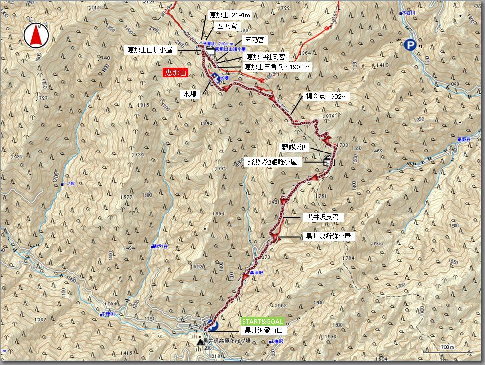 恵那山マップ