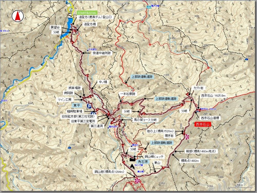 西赤石山マップ
