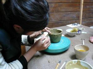 土器カップ制作