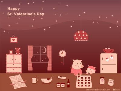 バレンタイン壁紙