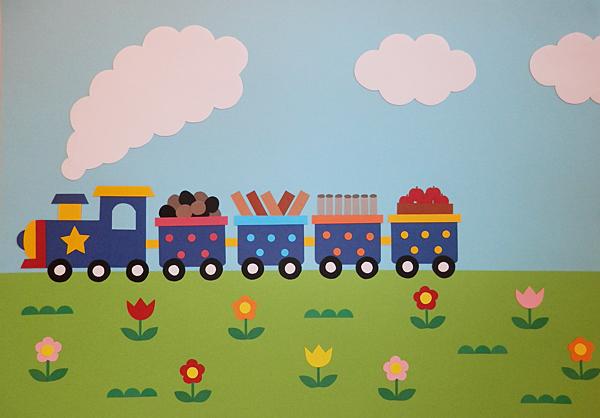 汽車はゆく 紙芝居