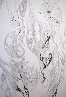 2012春陽展(入選)「流花」