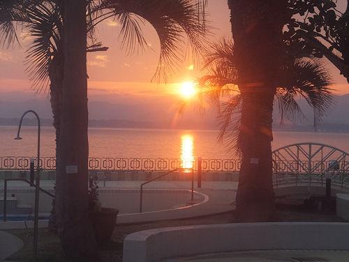 浜名湖の日没