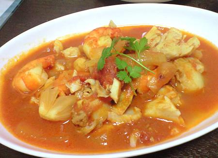 地中海風魚介スープ