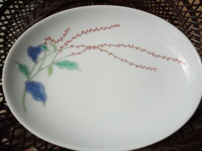 水引草の絵皿