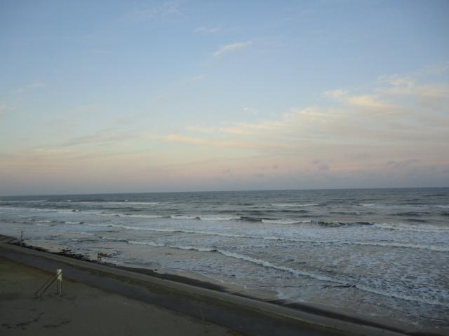 九十九里浜の黄昏