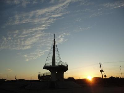 展望台の日没