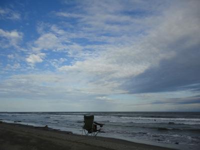 9月の海・椅子