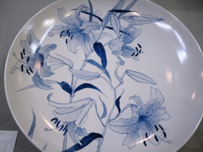 百合文大皿