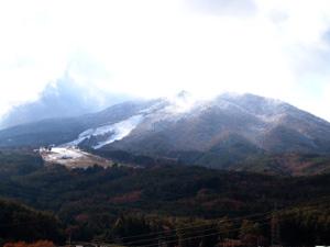 11月末日の舟山に雪