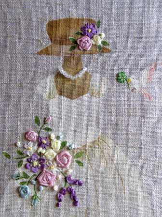 リボン刺繍(アップ)