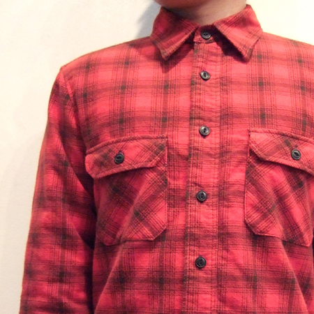 QUILTING CHECK SHIRT(RED)