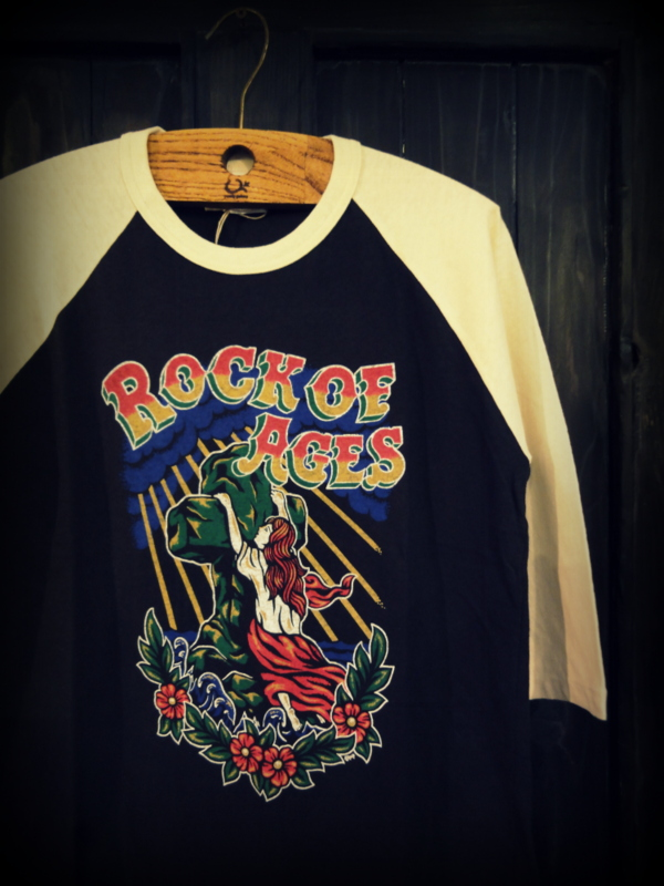 Print 3/4 Raglan Sleeve Tee (Rock of Ages)