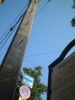 日本最古のコンクリートの電柱