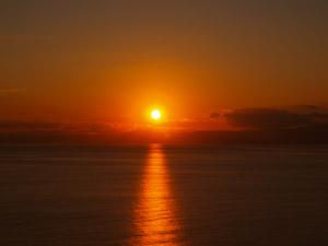 江ノ島の夕日