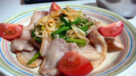 豚ばら肉の韓国風