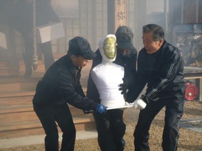 文化財を守る防火訓練 | 弥勒寺...