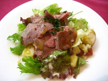 ローストビーフの前菜