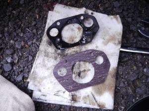 CB250オイル漏れ修理