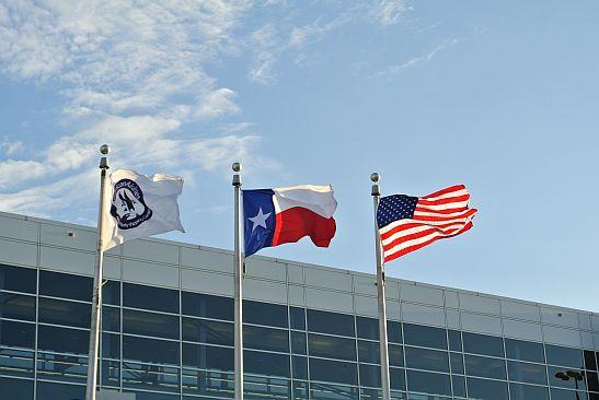 米星条旗とテキサス州旗