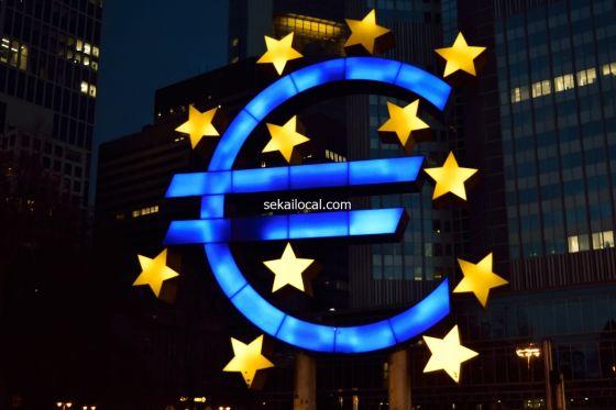 有名な欧州中央銀行のマーク