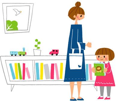 ママと子どものイラスト