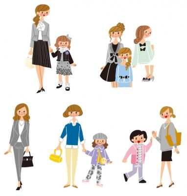 親子 イラスト ママ 子ども