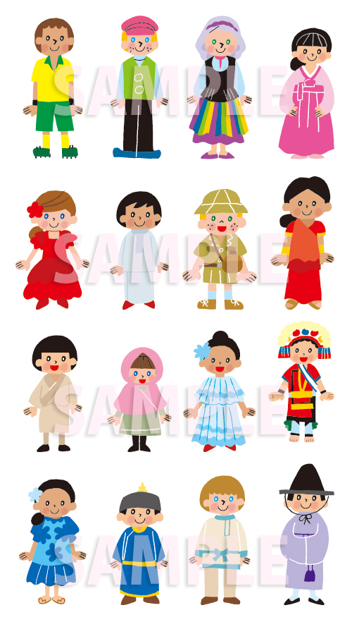 世界 子ども 子供 民族衣装