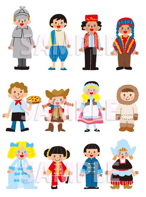 外国 子供 子ども 民族衣装