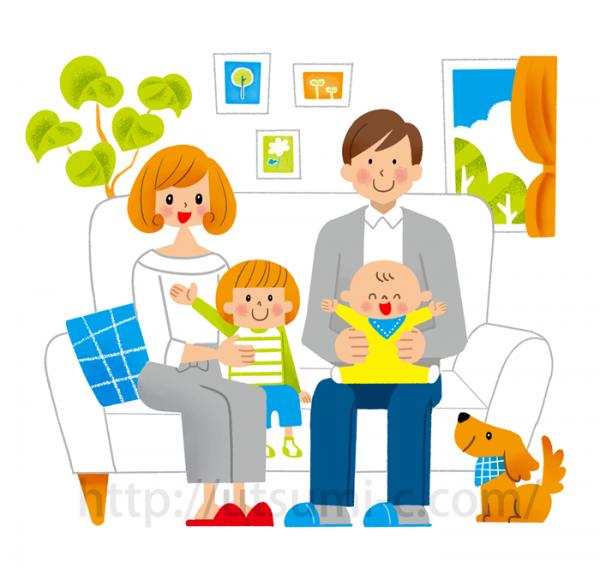 家族のイラスト(ファミリーのイラスト)