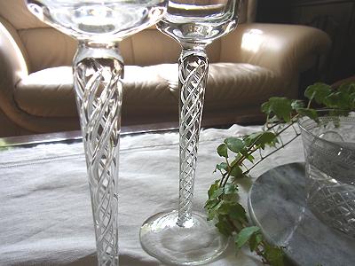 エアーツイストのワイングラス